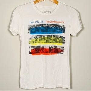 THE POLICE Synchronicity Band Tee Shirt M